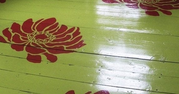 Stenciled floors etsy