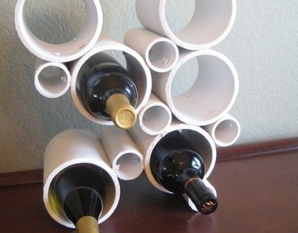 Finished pvc pipe wine rack 1
