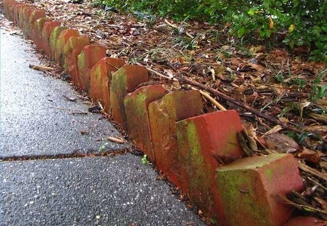 Diy garden edging bob vila for Cheap diy garden edging