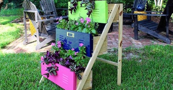 Tiered locker planters