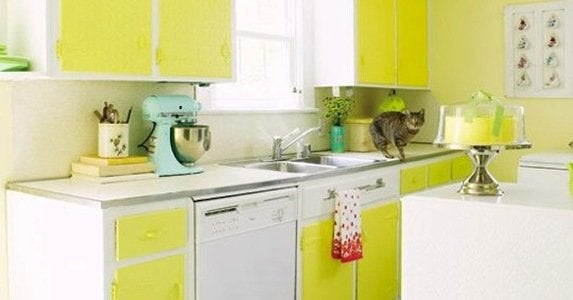 Kitchens that pop with color cover image apartment therapy