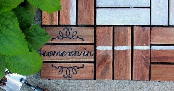 14 diy doormats that step up the style