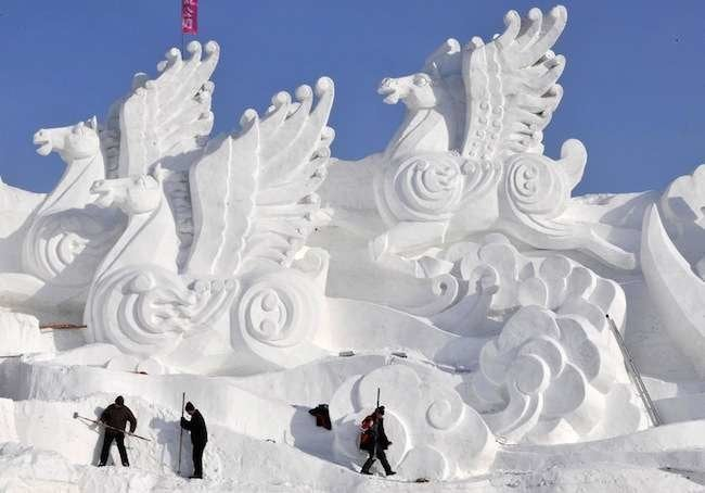 Frosty Feats: 12 Incredible Snow Sculptures
