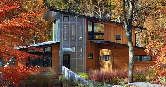 Spring house exterior