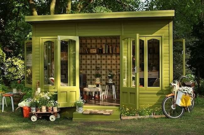 Ideas For Garden Sheds open lean to shed with eco roofing budget friendly garden shed ideas worth every 12 Garden Sheds You Could Actually Live Or Work In