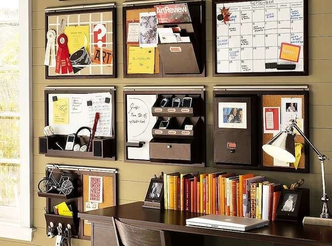 How to organize your desk 11 ideas for the home office - How to organize your desk at home for school ...