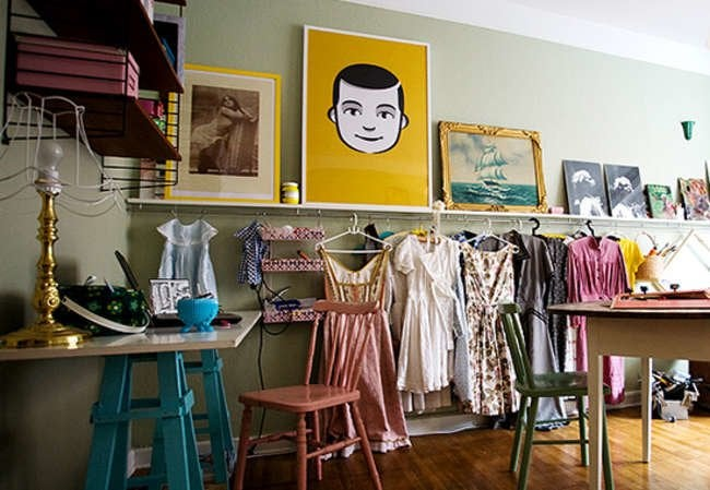 8 DIY Storage Solutions for a Closet-less Room