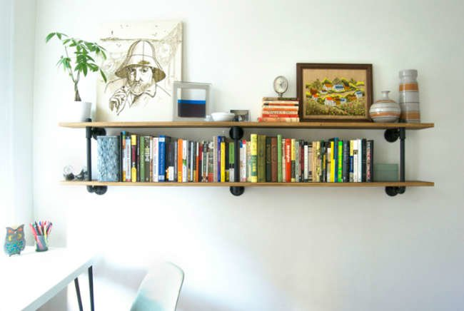 skateboard shelf - diy shelves - 10 creative projects - bob vila