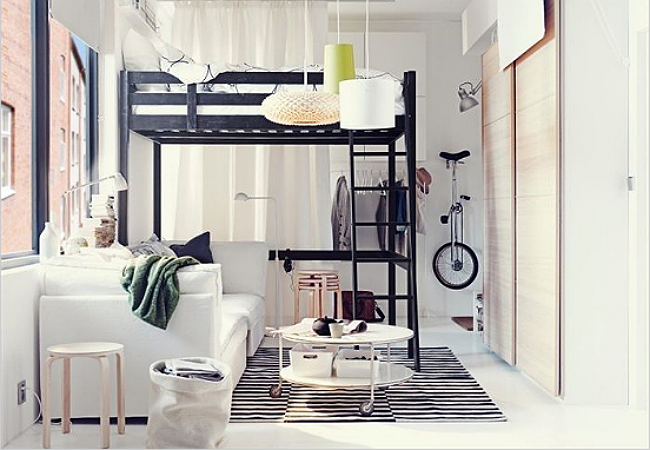 The Space-Saving Loft Bed: 8 Inspirations for Cramped Quarters