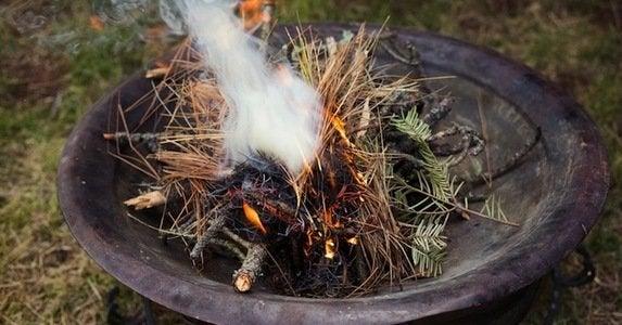 Pine fire pit