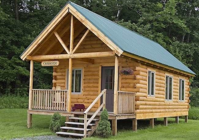 Log cabin kits 8 you can buy and build bob vila for How to build a cabin floor