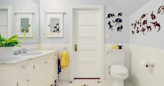 Kids bath wall decals