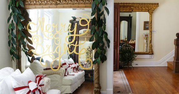 Diy holiday mirror