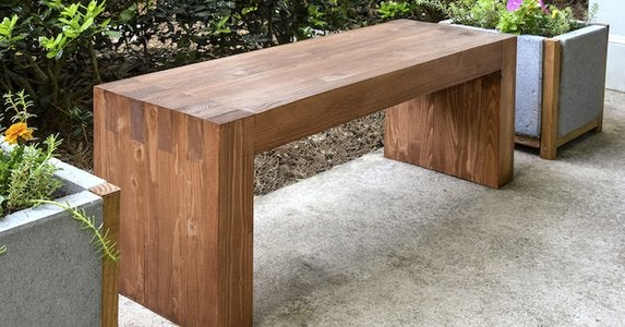 Diy-outdoor-bench