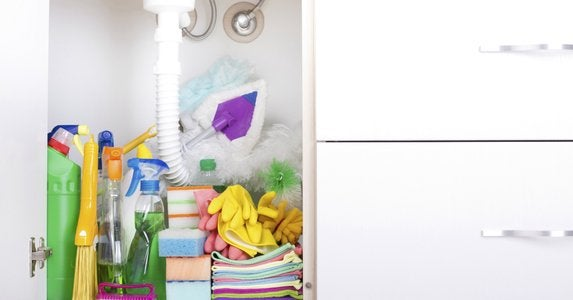 Keep under sink area clutter free