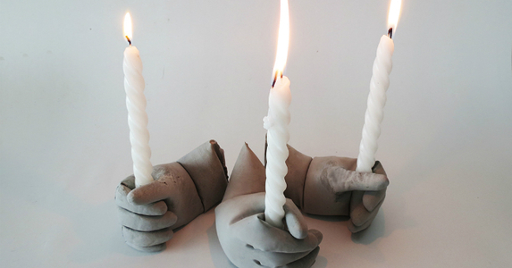 Concrete Candle Holders - Easy Halloween DIY