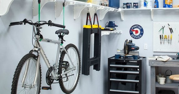 Ezshelf bike storage in garage