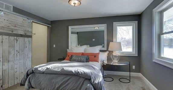 Steel gray bedroom