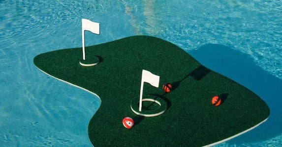 Floating golf