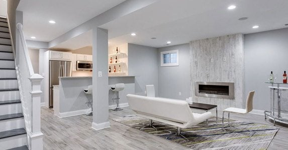 Captivating Gray Basement