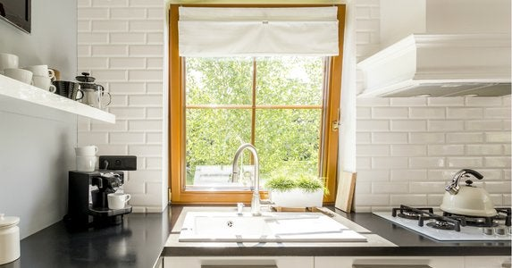 Play up a kitchen window