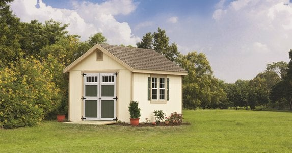 Window shutters match your shed to your home