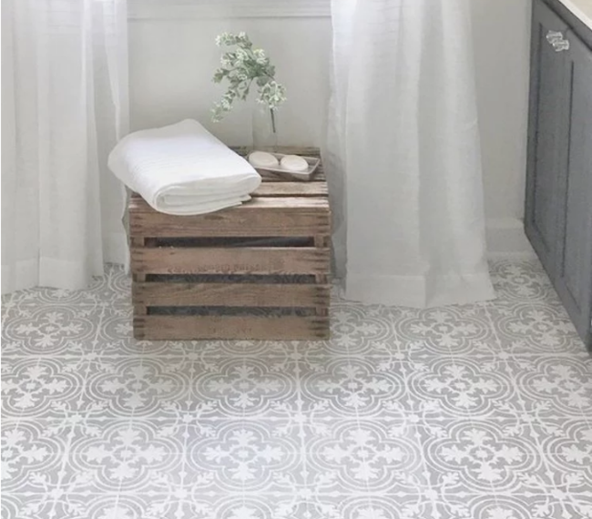 The Best Painted Tile Floors on the Internet
