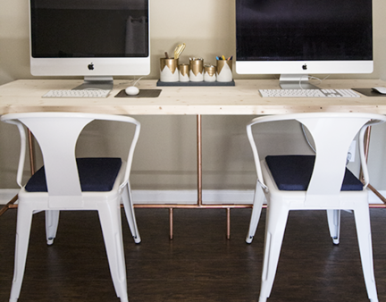 How to build a copper pipe industrial chic double desk upcycledtreasures