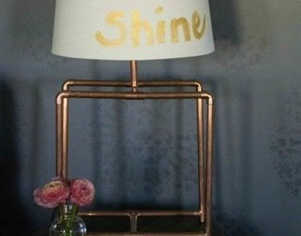 Diy copper lamp finished