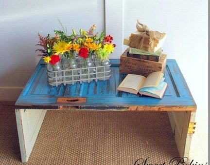 How to make a diy door coffee table