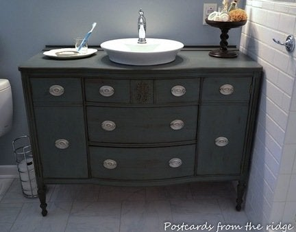 Diy dresser bathroom vanity