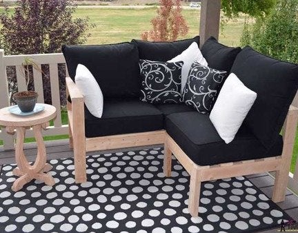 Diy outdoor bench and chaise final product 1