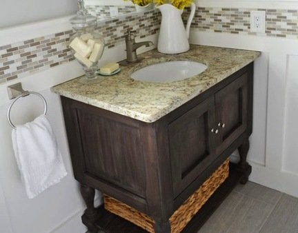 Pottery barn inspired vanity