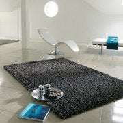 Shaggy rug glamour graphite 300