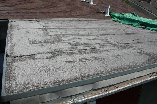 Asphalt Roll Roofing : Replacing a flat asphalt rolled roof forum bob vila