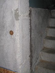 Foundation bulkhead stairs nut
