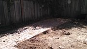 Yard project after deck was hauled away..