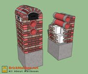 Brick mailbox 2 cross section