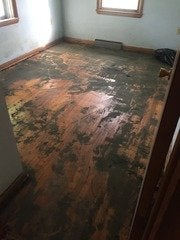 Asbestos Floor Tile and Black Mastic