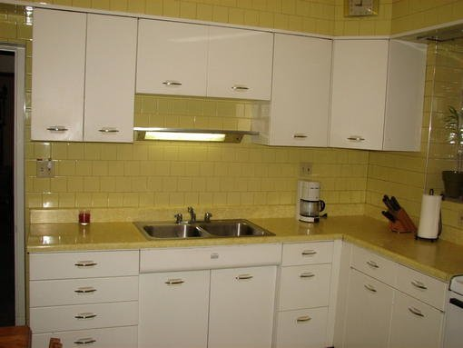 Vintage geneva white kitchen cabinets circa 1950 1500 for Antique white kitchen cabinets for sale