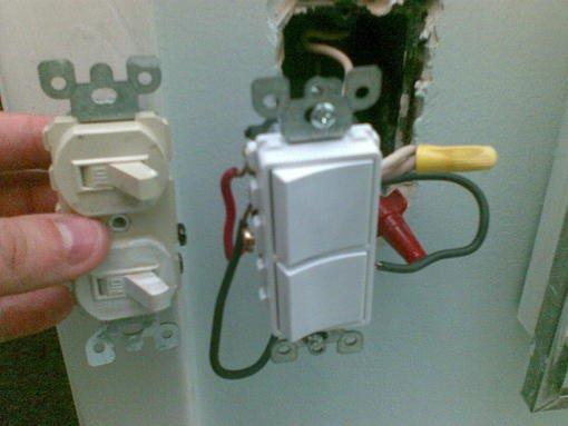Bathroom light switch exhaust fan wiring installation - Bathroom exhaust fan control switch ...