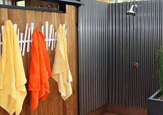 Corrugated Tin Outdoor Shower Ideas 16 Diys To Beat