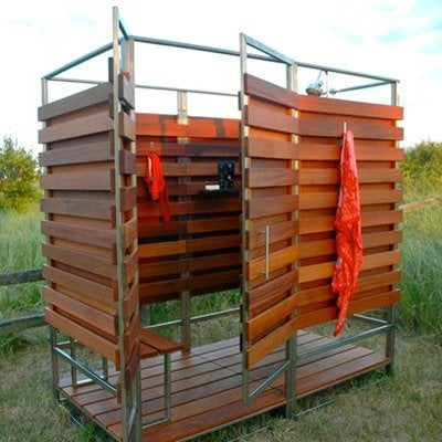 outdoor shower ideas 16 diys to beat the heat bob vila. Black Bedroom Furniture Sets. Home Design Ideas