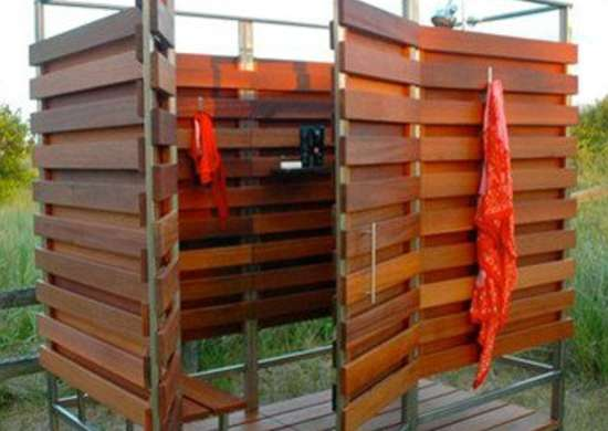 Wood Shower Stall