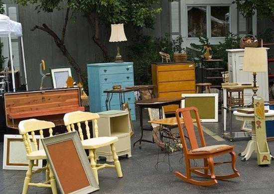 Yard Sale Displays