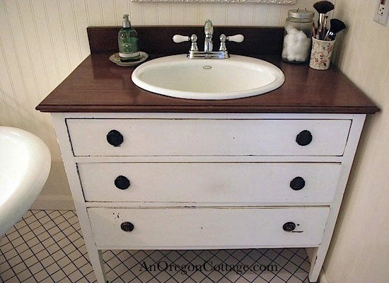 DIY Bathroom Vanity Repurposed Dresser  10 Ways To Reuse A Bob Vila