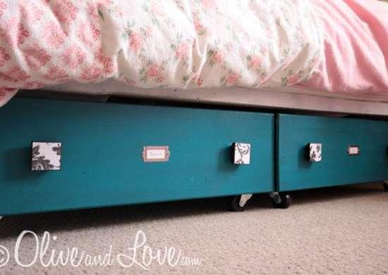 DIY Underbed Storage