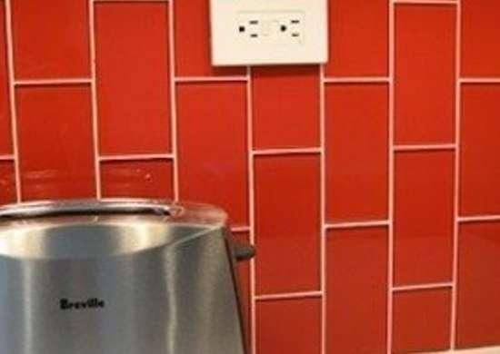 Modwalls.com lush tomato subway tiles