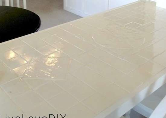 Painted Tile Countertops