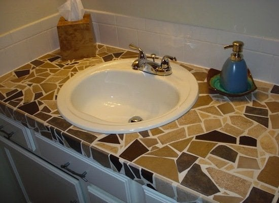 how to make tile countertops smooth